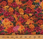 Cotton Flowers Floral Plants Gardens Blessed Beauty Packed Floral Multicolor Cotton Fabric Print by the Yard (59231-A620310)