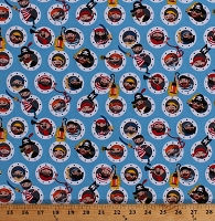 Cotton Pirates Ship Portholes Pirate's Life Holed Up Blue Kids Cotton Fabric Print by the Yard (C7351-Blue)