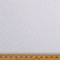 Cotton Snowflakes Winter Snow Christmas Holiday White on White Cotton Fabric Print by the Yard (1887-01W)