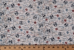 Cotton Route 66 Highway Map American Road Trip Travel Transportation Patriotic Gas and Route Red Blue Cream Cotton Fabric Print by the Yard (23119-11)