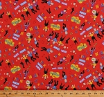 Cotton The Wiggles Music Group Musicians Musical Notes Kids Ready Steady Wiggle! Cotton Fabric Print by the Yard (C8540-RED)