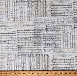Cotton Music Score Notes Moonlight and Roses Antique Cotton Fabric Print by the Yard (MUSIC-C7308-ANTIQUE)