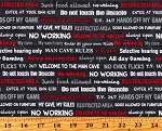Cotton Man Cave Mancave Dads Guys Words Phrases Charcoal Gray Cotton Fabric Print by the Yard (52414-5)