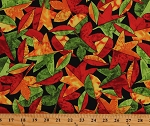 Cotton Autumn Leaves Fall Colorful Foliage Cotton Fabric Print by the Yard (M3407-66AUTUMN)