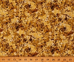 Cotton Gold Leaves Autumn Foliage Fall Leaf Cotton Fabric Print by the Yard (1649-26653-S)