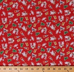Cotton Candy Cane Lane 1930's Reproduction Depression Era Planes Little Dolls Toys Vintage-Look Kids Children Cotton Fabric Print by the Yard (51216-5)
