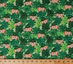 Cotton Leprechaun Saint Patrick's Day St. Paddy's Luck of the Irish Shamrocks Clovers Polka Dot Green Cotton Fabric Print by the Yard (9912-66)