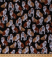 Cotton Bulldogs Dogs Puppy Puppies Pets Animals Cotton Fabric Print by the Yard (GM-C4891-Bulldog)