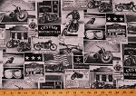Cotton Newspaper Headlines Newsprint Historic Historical Events Words Black and White Cotton Fabric Print by the Yard (ERA-C3646-NEWS)