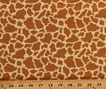 Cotton Animal Skin Prints Giraffe African Orange Cotton Fabric Print by the Yard (9562-33)