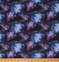 Cotton Outer Space Stars Galaxies Super Novas Cotton Fabric Print by the Yard (5308-97)