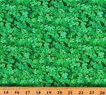 Cotton Shamrocks Clovers Plants St Patrick's Day Irish Green Cotton Fabric Print by the Yard (624GREEN)