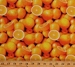 Cotton Oranges Citrus Fruits Food A La Carte Cotton Fabric Print by the Yard (51890D-X)
