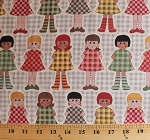 Cotton Cutie Pie Dolls Grey Gingham Check Cotton Fabric Print by the Yard (btr5702)