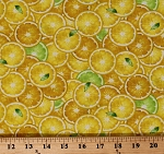 Cotton Lemons Limes Citrus Fruits Refreshing Summer Yellow Cotton Fabric Print by the Yard (FRUIT-C8017-YELLOW)