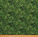 Cotton Ferns Foliage Green Leaves Naturescapes Cotton Fabric Print by the Yard (21404-76)