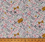 Cotton Math Scientific Calculations Equations Figures Cotton Fabric Print by the Yard (GAIL-C8230-WHITE)