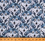 Cotton Wolves Wolf Canines Animals Woodland Fantasy Cotton Fabric Print by the Yard (1309-90)