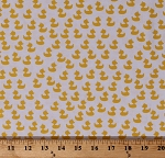 Cotton Rubber Ducks Rubber Ducky Duckies Ducklings on White Baby Talk Cotton Fabric Print by the Yard (100-2551)
