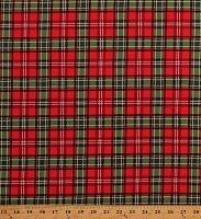 Cotton Red Green Plaid Festive Stripes Holiday Christmas Memories Cotton Fabric Print by the Yard (C8698-MULTI)