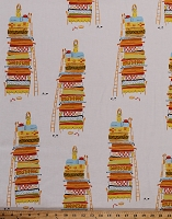 Cotton Far Far Away Heather Ross The Princess and the Pea Pillow Bed White Cotton Fabric Print by the Yard (39658A-6)