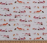 Cotton Cats Kitties Kittens Animals on Cream Cotton Heather Ross 20th Fabric Print by the Yard (40931A-5)