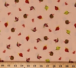 Cotton Snails Small Garden Snails Cute Animals on Peach Cotton Heather Ross 20th Fabric Print by the Yard (42209A-13)