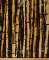 Cotton Call of the Wild Landscape Bamboo Stalks Trees Leaves Nature Jungle Digital Cotton Fabric Print by the Yard (R4635-495-Bamboo)