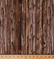 Cotton Brown Barn Wood Boards Wood Grain Knots Floorboards Planks Carpentry Landscape Horsin' Around Cotton Fabric Print by the Yard (C7017)
