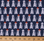 Cotton Fire Pups Dalmatians Fire Dogs Puppies Firefighters Navy Blue Cotton Fabric Print by the Yard (AWN-18274-9NAVY)