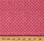 Cotton Laura Heine The Dress Pink Flowers Cotton Fabric Print by the Yard (PWLH007.PINKX)