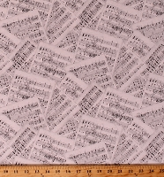 Cotton Sheet Music Allover Musical Notes Musician Orchestra Concert Interlude Cotton Fabric Print by the Yard (3009-24056-199)