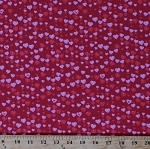 Cotton Hearts Allover on Red Valentine's Day Romantic Love Letters Pink Cotton Fabric Print by the Yard (1863-88)