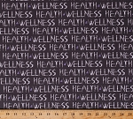 Cotton Health & Wellness Yoga Ladies Words Phrases Healthful Living Exercise Cotton Fabric Print by the Yard (51299-1)