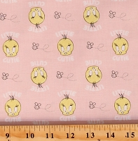 Cotton Tweety Bird Looney Tunes Little Dreamer Pink Cotton Fabric Print by the Yard (23600124-02)