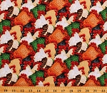 Cotton Roosters Chickens Cluck Farm Raised Farms Animals Cotton Fabric Print by the Yard (1975-83)