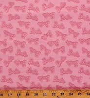 Cotton Barbie Names Words Allover Girls Pink Cotton Fabric Print by the Yard (C9733-Pink)
