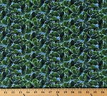 Cotton Cactus Cacti Plants The Road Home Dark Green Landscape Cotton Fabric Print by the Yard (23050-76DARKGREEN)