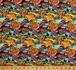 Cotton Tropical Fish Colorful Multi-Color Ocean Animals Cotton Fabric Print by the Yard (71578-A620715)
