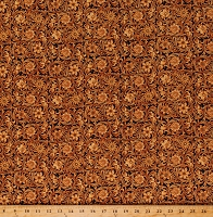 Cotton Floral Golden Floral Wild Wild West  Cotton Fabric Print by the Yard (5352-38)