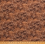 Cotton Wheat Golden Wheat Great Plains Fabric Wild Wild West Brown Cotton Fabric Print by the Yard (23522-34)