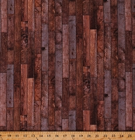 Cotton Wood Wooden Boards Floorboards Planks Timber Lumber Wall Maverick Brown Cotton Fabric Print by the Yard (DP23618-34BROWNMULTI)