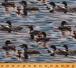 Cotton Loons Lakes Water Birds Calm Blue Tranquil Moments Cotton Fabric Print by the Yard (DP23305-44BlueMulti)