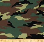 Cotton Camouflage Camo Hunting Cotton Fabric Print by the Yard (36383-1-CAMO)