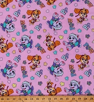 Cotton Paw Patrol Team Skye & Everest Dogs Girls Kids Pink Cotton Fabric Print by the Yard (PW-4353-0C-2PINK)