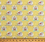 Cotton Dumbo the Flying Elephant Dumbo in the Circus Children's Kids Yellow Disney Cotton Fabric Print by the Yard (85160206-02)