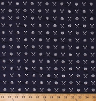 Cotton Ship's Wheel Helm Oars on Navy Blue Nautical Seaside Sailors Boating Harry and Alice Go to the Sea Cotton Fabric Print by the Yard (C8472 NAVY)