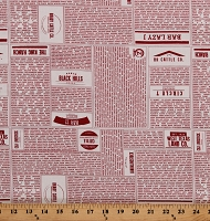 Cotton Ranches Farms Farmers Cattle Branded Red/Cream Cotton Fabric Print by the Yard (5780-21)