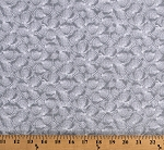 Cotton Seashells Packed Shells  Beach Ocean Gray White Calming Tides Jessica Mundo Cotton Fabric Print by the Yard (1774-19)