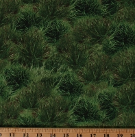 Cotton Landscape Grass Small Bushes Ground Cover Foliage Green Cotton Fabric Print by the Yard (NATURE-C6861-GREEN)